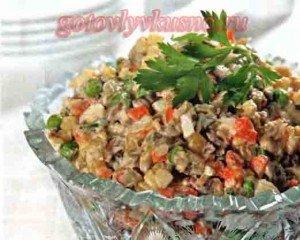 фото салат столичный с языком