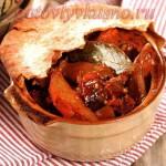 Бенволио (жаркое) с мясом и грибами в горшочках