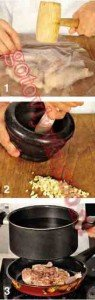 приготовление цыпленка по стадиям