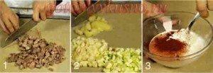 стадии приготовления салат с языком