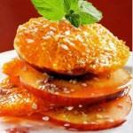 Яблочно - апельсиновый десерт к вину