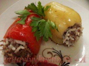вареный фаршированный перец для диеты