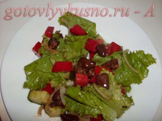 Салат с куриным сердцем финальное фото