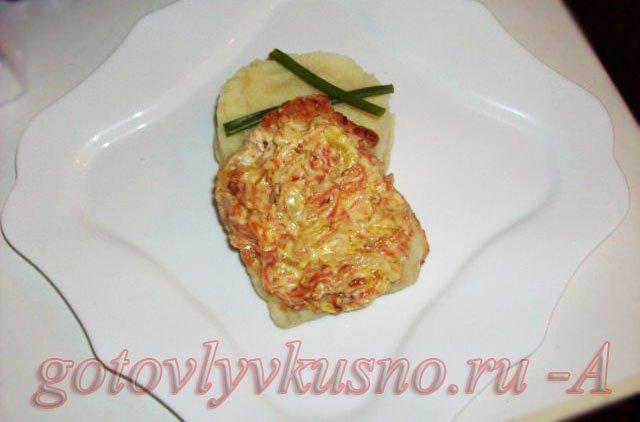 Филе судака запеченное с овощами