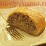 Мясной пирог и тесто для него