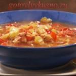 Куриный суп с беконом