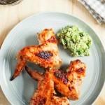 Куриные крылья в медовом маринаде со сметаной