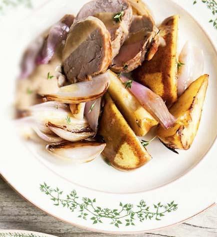 рецепт свинины запеченной с грушей