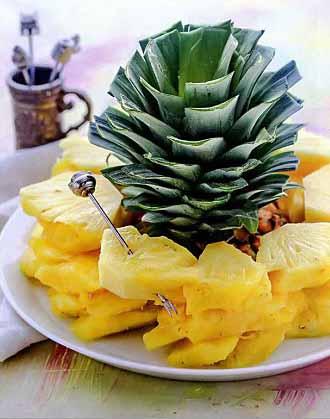 как разделать ананас