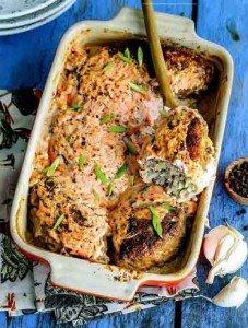 Ленивые голубцы с фаршем и рисом