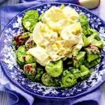 Салат из редиски и огурцов с яйцом под домашним майонезом