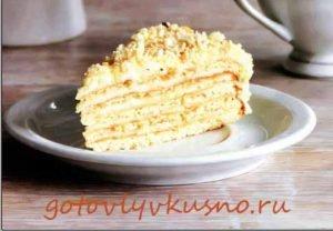 Рецепт торта с кремом