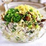 Рецепт салата оливье с говяжьим языком