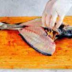 удаляем хребет у рыбы